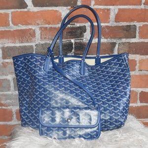 GOYARD Blue Tote Bag and Matching WALLET